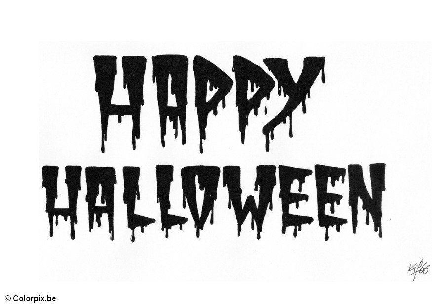 Målarbild 05 Happy Halloween - Bild 5190.