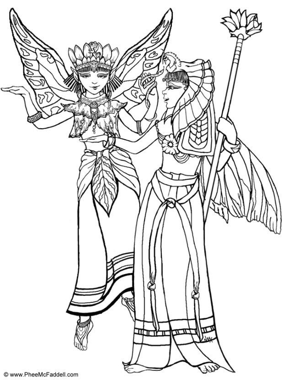 Free Egyptian Princess Coloring Pages