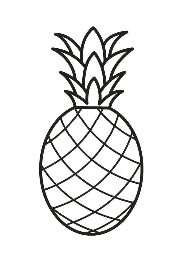 m u00e5larbild ananas