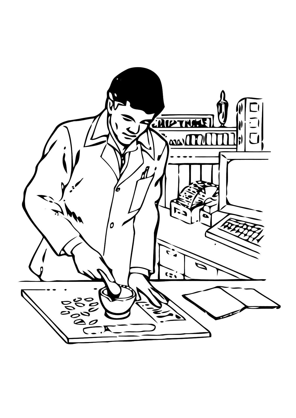 coloring pages pharmacist - photo#8