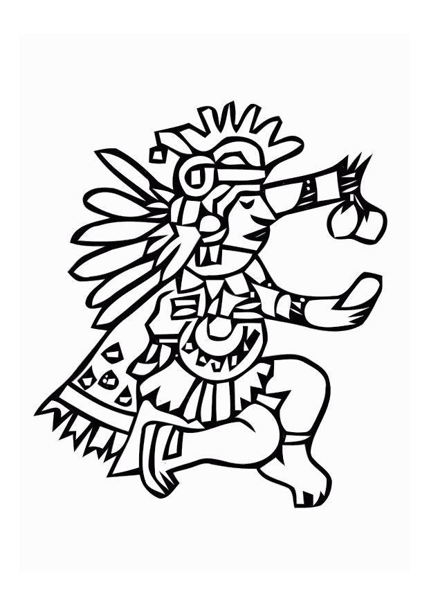 aztec murals coloring pages - photo#7