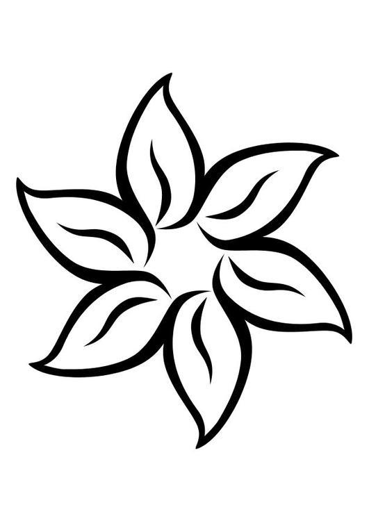 m u00e5larbild blomma