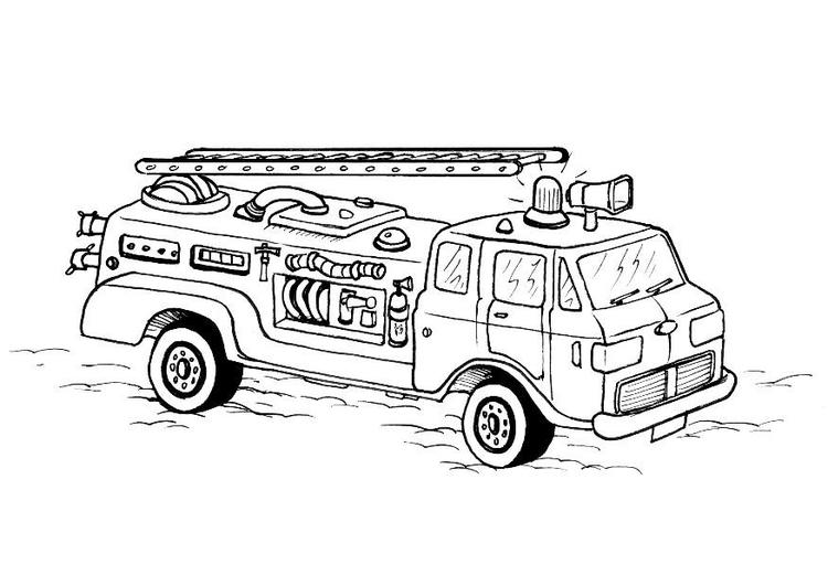 m u00e5larbild brandbil
