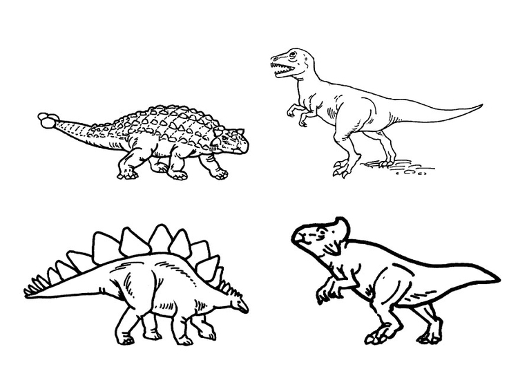 Målarbild dinosaurier - Bild 9101.
