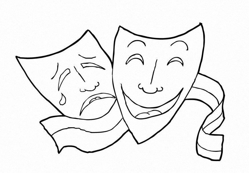 M larbild drama teater bild 14918 - Dessin de theatre ...
