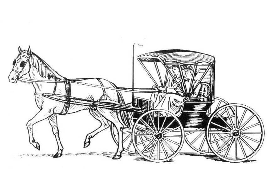M larbild h st med vagn bild 18982 for Cavallo da disegnare per bambini