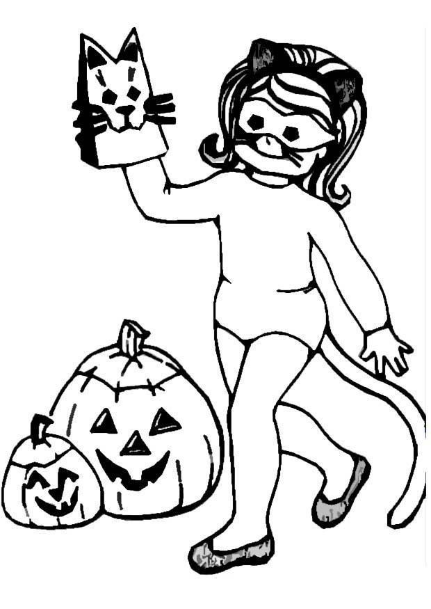 Målarbild halloween - flicka - Bild 8613.