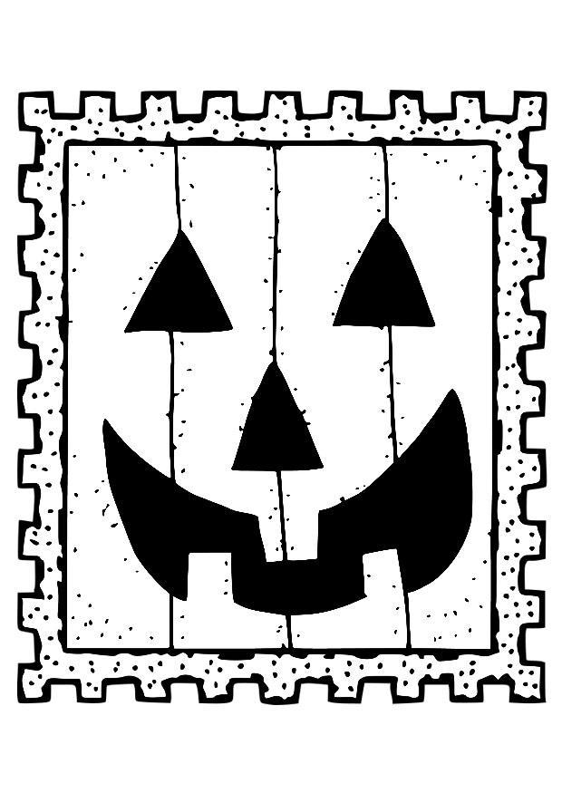 Målarbild halloween - frimärke - Bild 19691.