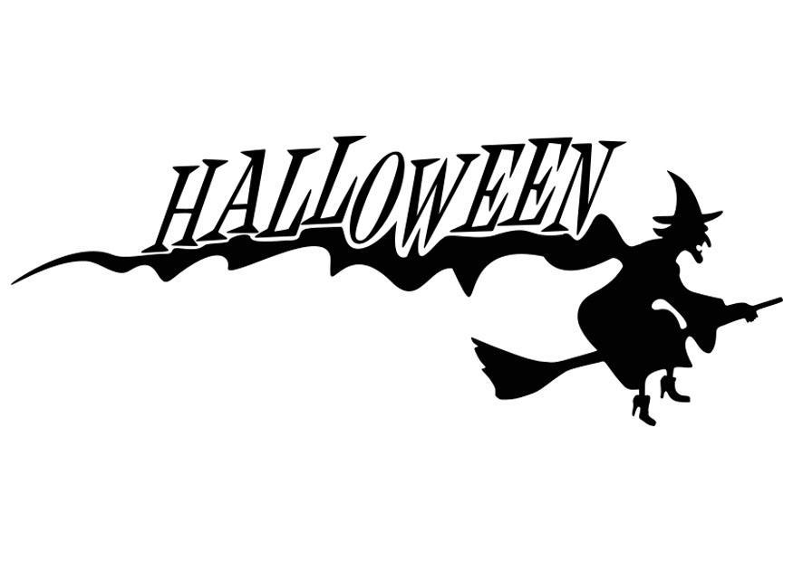 Målarbild Halloween - häxa - Bild 19737.