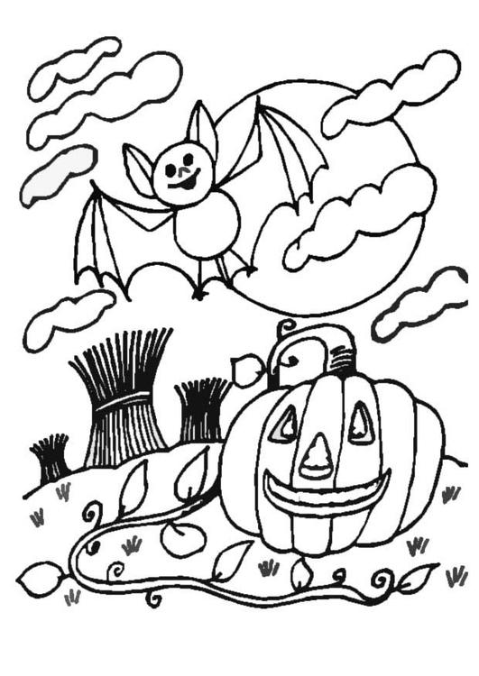 Målarbild halloween - natt - Bild 8631.