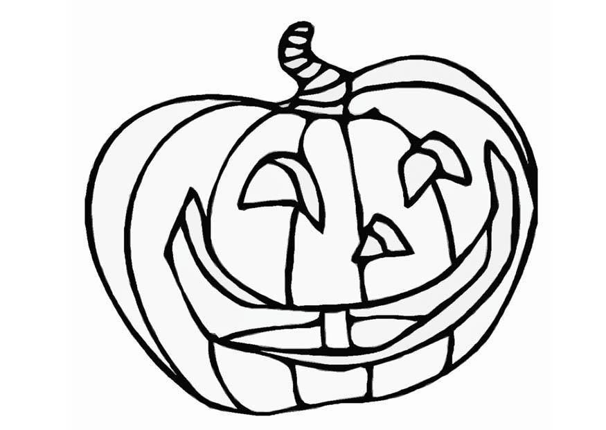 Ausmalbilder Herbst Kürbis: Målarbild Halloween-pumpa