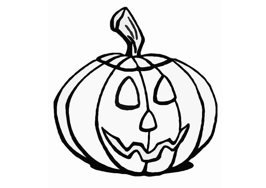 Målarbild halloween-pumpa - Bild 8593.