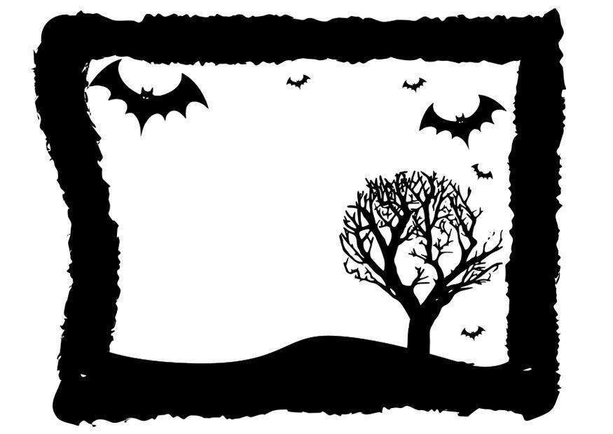 Målarbild halloween ram - Bild 19728.