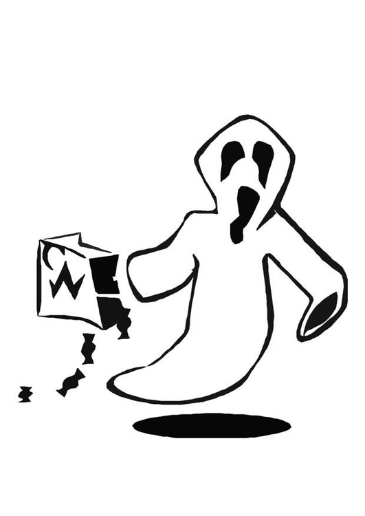 Målarbild halloween-spöke - Bild 8596.