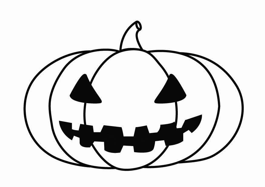 halloween målarbilder pumpa