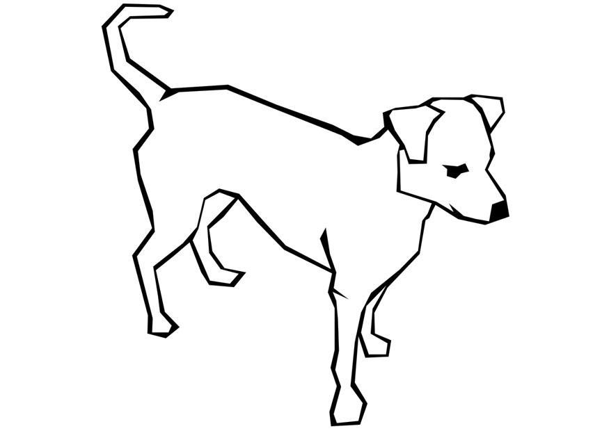 Afbeeldingen Honden Kleurplaat M 229 Larbild Hund Bild 11594 Images