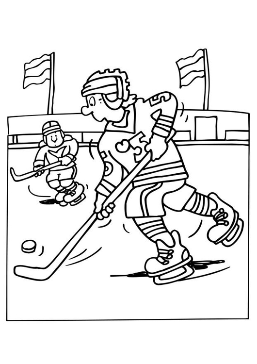 Line Art Nj : Målarbild ishockey bild