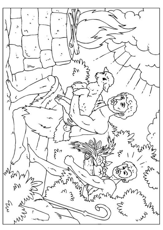 cain and abel coloring pages - photo#21