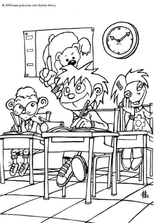 D Line Drawings Questions : Målarbild klassrum bild