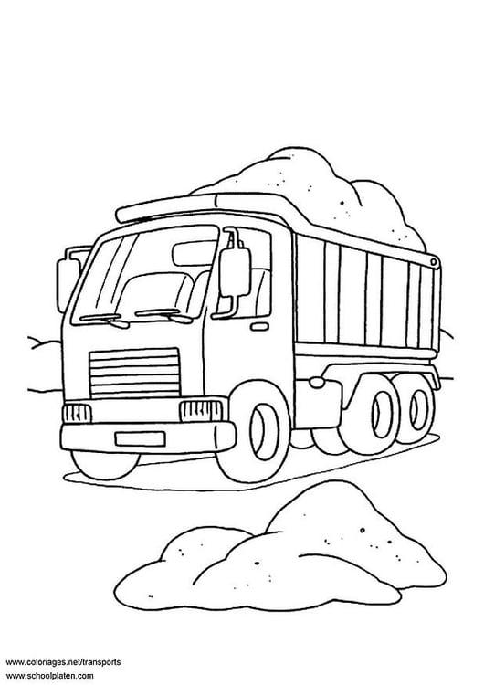 Kleurplaten Printen Vrachtwagens M 229 Larbild Lastbil Bild 3099