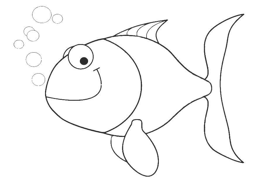 M larbild liten fisk bild 20691 for Pesciolini da colorare per bambini