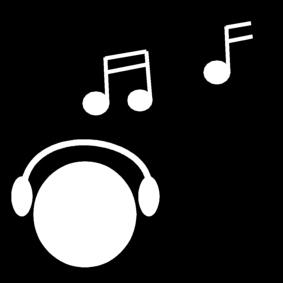 Målarbild lyssna till musik 283x283