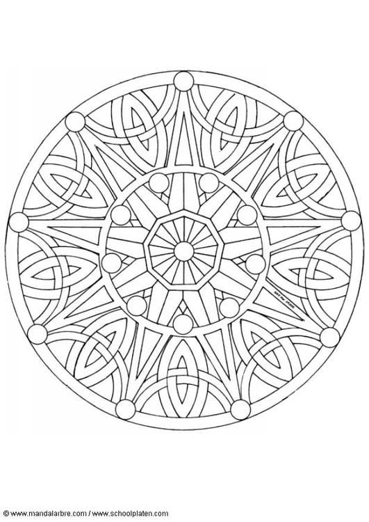 Volwassen Kleurplaten Herfst M 229 Larbild Mandala 1702b Bild 4518