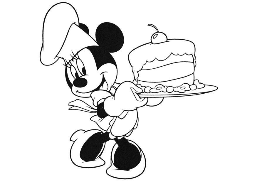 Minnie Mouse Color Pages - Castrophotos