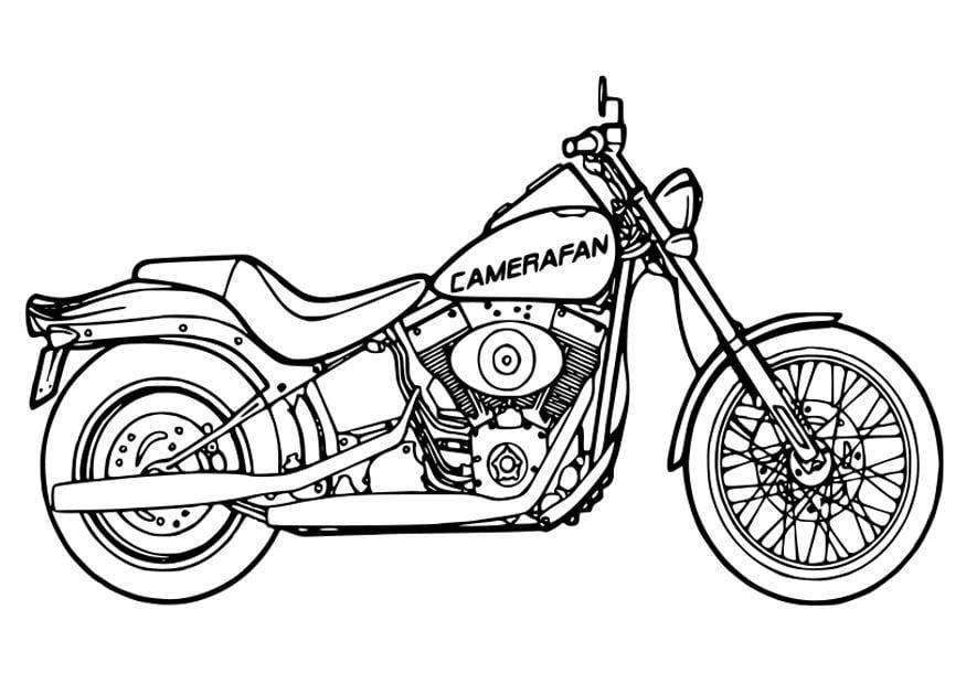 Kleurplaat Motor Harley M 229 Larbild Motorcykel Bild 26354