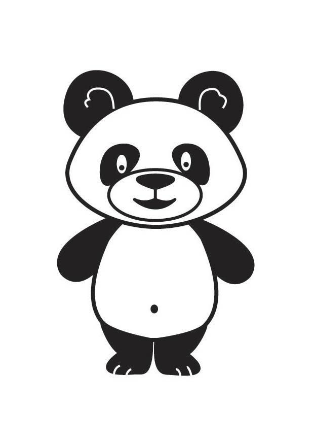 M larbild panda bild 17917 - Coloriage de panda kawaii ...
