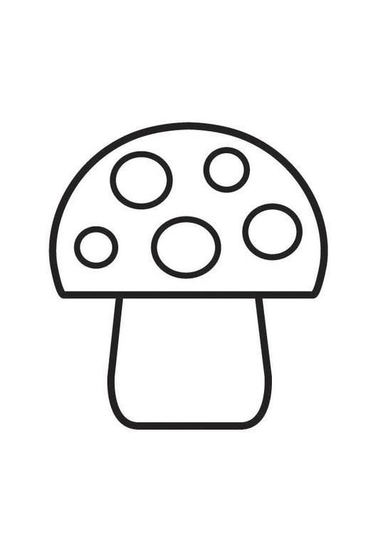 m u00e5larbild prickig svamp