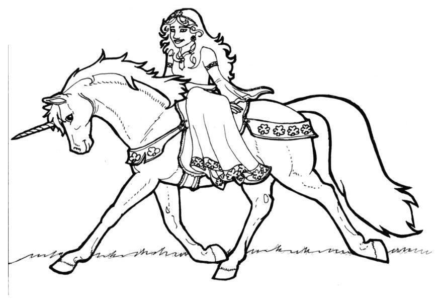 m u00e5larbild prinsessan shamrock p u00e5 enh u00f6rning