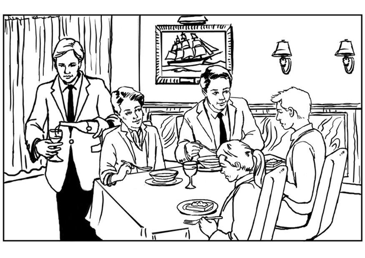 mikes restaurant coloring pages - photo#2
