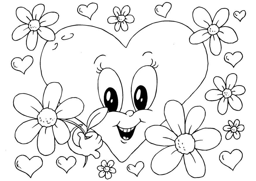 m u00e5larbild valentin-blommor