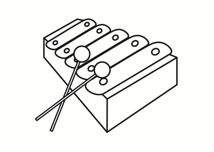 Xylophone coloring page  Free Printable Coloring Pages