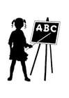 Målarbild ABC