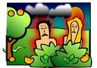 bild Adam och Eva - ledsna