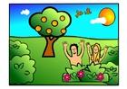 bild Adam och Eva - lyckliga