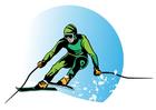 bild åka skidor