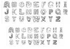 Målarbild alfabet