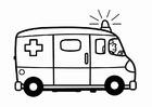 Målarbild ambulans