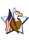 bild amerikansk flagga med örn