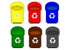 bild återvinnings behållare