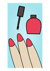 bild att lacka naglarna