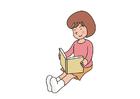 bild att läsa en bok