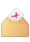 bild att rösta - nej