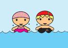 bild att simma