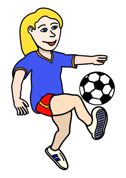 Bild att spela fotboll 305x431