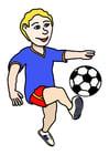 bild att spela fotboll