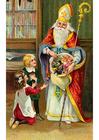 bild barn med Sankt Nikolas
